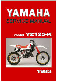 yamaha workshop manual yz125 yz125k 1983 vmx maintenance service