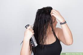 hairstyles for bed wiki how 6 ways to style wet hair wikihow