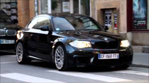 bmw black black 1m bmw akrapovic sound youtube