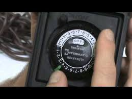 how to set light timer intermatic intermatic timer youtube