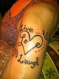 live laugh love hip tattoo design photos pictures and sketches