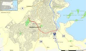 Boston Road Map by Massachusetts Route 203 Wikipedia