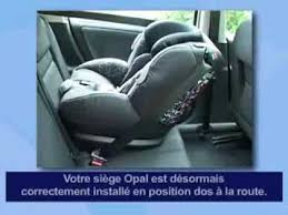 bébé confort opal siège auto installation dos route fançais