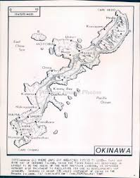 Okinawa Map 1945 Photo Ww2 Era Okinawa Island Map Military Tokyo Radio Bay