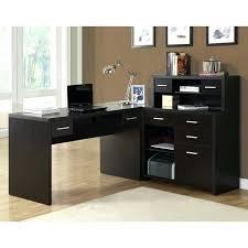 Computer Desk In Black Desk Bush Fairview L Shaped Wood Computer Desk In Black L Shaped