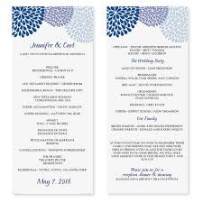 Program Wedding Printable Wedding Program Templates