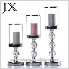 set 3 metal glass candle holders with wedding home