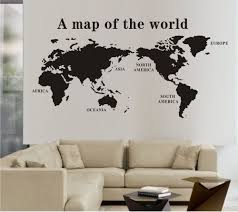 how to create interest to your dreary walls interior designing discount world map wall stickers decal world maps