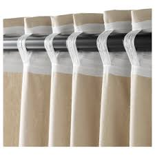 White Linen Curtains Ikea Ingert Curtains With Tie Backs 1 Pair Ikea