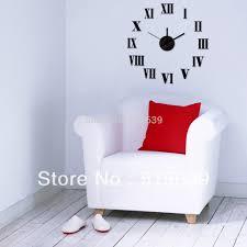 aliexpress com buy diy wall clock 3d roman black sticker art