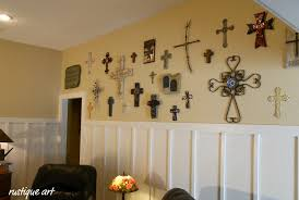 wall crosses a wall of crosses