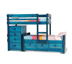 Captains Bunk Beds Captains Longwall Bunk Bed With Midline Chest Drawers And Trundle