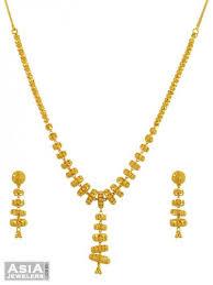 gold jhumka earrings design 22k gold jhumka necklace set ajns55185 22k gold designer
