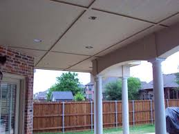 Patio Cover Lights Large Painted Shingled Patio Cover With Ceiling And Lights Hundt