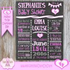 baby shower poster jar chalkboard sign it s a girl baby shower sign pink