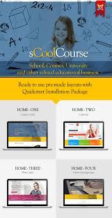 scoolcourse multipurpose educational template by artofthemes