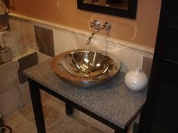 bathroom natural bathroom vessel sinks design brown and green