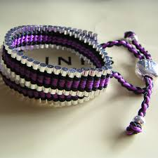 friendship bracelet links images Links of london friendship bracelet black purple double wrap jpg