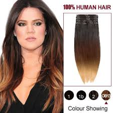 hair extensions uk 16 three colors 1b and 30 and 27 ombre indian remy clip in