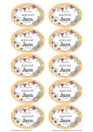 great summer apricot jam jar labels you can edit and use