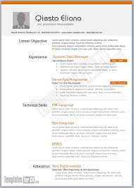 sample php developer resume templates