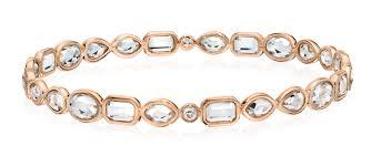 rose crystal bracelet images B0142 mixed cut rose gold rock crystal and diamond bangle jpg