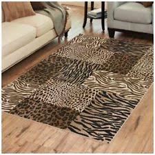 Animal Area Rugs Animal Print Rectangle Modern Area Rugs Ebay