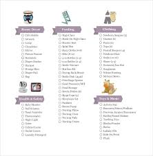 baby gift registry list baby registry checklist templates 12 free word excel pdf