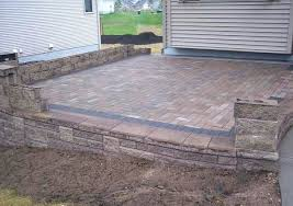 Large Pavers For Patio by Brick Paver Patio Walls Brick Paver Wall Installation Retaining