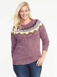 fair isle plus size sweater navy