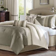 Walmart Duvet Bedroom Purple Pintuck Comforter With Purple Throw Pillows And