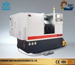 small desktop cnc lathe used for metal parts machining
