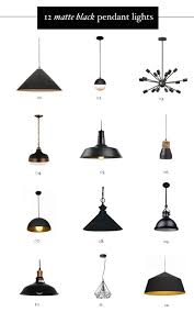 Black Kitchen Light Fixtures Cool Matte Black Hardware And Kitchen Pendant Lighting