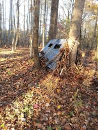 Natural Hunting Blinds My First Ground Blind I Made From Tarp Deer Cam Nearby So I Hope