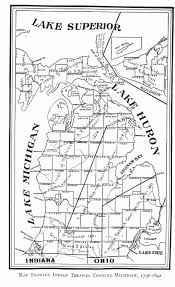 Map Of Michigan And Canada by 1796 1842 Treaty Map Of Michigan Mainly Michigan