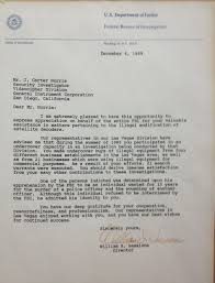Letter Of Commendation Fbi Commendation
