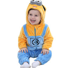 baby minion costume minions baby clothes romper infant costume 2018 new hooded