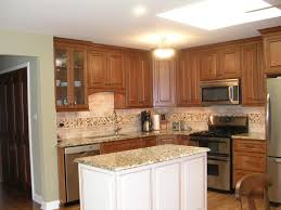 Oak Kitchen Cabinet by Oak Kitchen Cabinets With White Island Kitchen Design