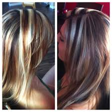blonde hair with chunky highlights chunky blonde highlights by sarah yelp
