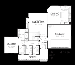 Great Room Plans Mascord House Plan 21104a The Prescott