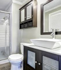 bathroom cabinets above sink awesome built in shelf over vanity