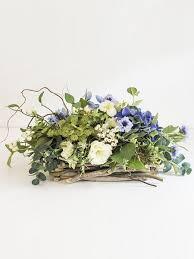 Silk Flower Plants - blue u0026 white artificial flower arrangement in natural vase sa