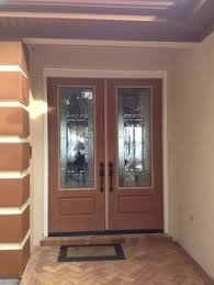 wood doors with glass inserts install of entryway of sapelle mahogany wood door with odl paris