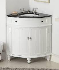 furniture white wooden corner bathroom vanity cabinet with