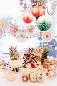 tropical bridal shower ideas blushing in hollywood