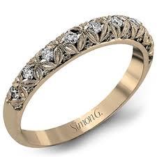 filigree wedding band simon g diamond wedding band featuring intricate filigree flowers