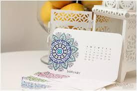 Diy Desk Calendar by Mehndi Medallion Desk Calendar And Wall Calendar Downloads