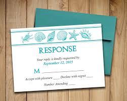 wedding invitations rsvp cards wedding rsvp template seashell response card coastal