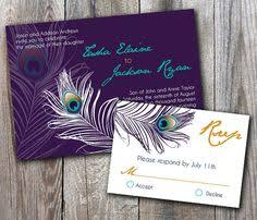 peacock wedding invitations peacock feather wedding jeweled feathers bokeh card purple teal