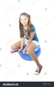 beautiful teen ball isolated on stock photo 102326800